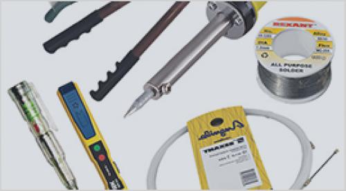 Инструменты и расходные материалы для электромонтажа