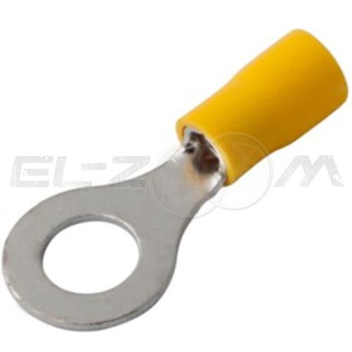 Наконечник кольцевой изолированный КВТ НКИ-2,5 (d=6мм, 6 кв.мм) (100шт.)