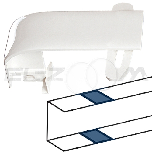 Накладка на стык профиля короба 105x50мм. Legrand DLP