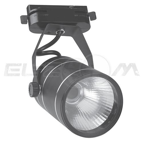 Трековый светодиодный светильник 9Вт 4500K 600lm Volpe ULB-Q251 9W/NW/K Black