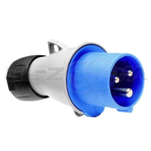 Вилка силовая кабельная 2к+З 16А IP44 ABB 216 Р6