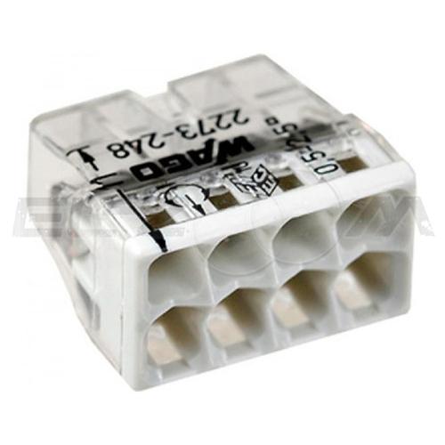 Клемма соединительная компактная 8 контактов WAGO 2273-248 0.5-2.5 кв.мм. 24А