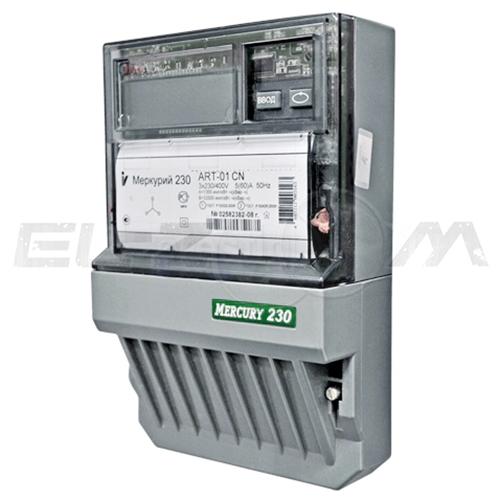 Счетчик 4 тарифа электрический Меркурий 230ART-02 C(R)N 400В 10(100) с ЖК-индикатором