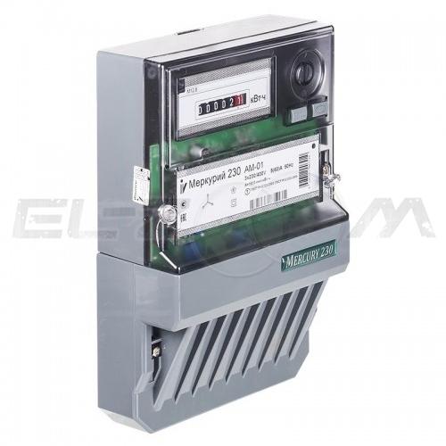 Счетчик однотарифный электрический Меркурий 230АМ-01 400В 5(60) с отчетным устройством