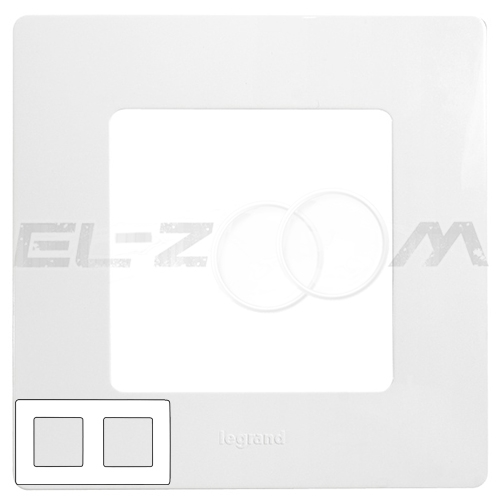 Рамка 2-я (постовая) Legrand Etika белый