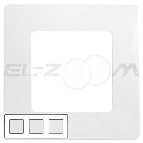 Рамка 3-я (постовая) Legrand Etika белый