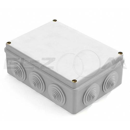 Распаячная коробка 190x140x70мм Greenel IP55 наружного монтажа серая