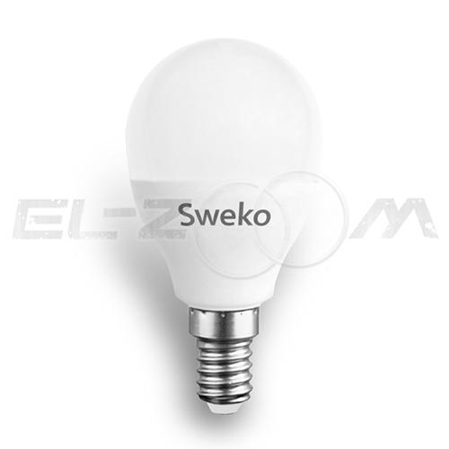 Лампа светодиодная ШАР Sweko 10Вт 4000K E14 220В матовое стекло