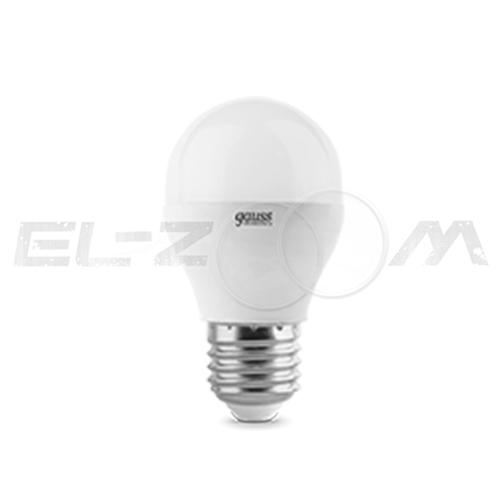 Лампа светодиодная ШАР Gauss 6Вт 2700K E27 220В матовое стекло