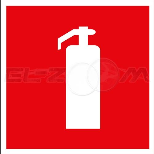 """Наклейка пожарной безопасности """"Огнетушитель"""" 100x100мм"""