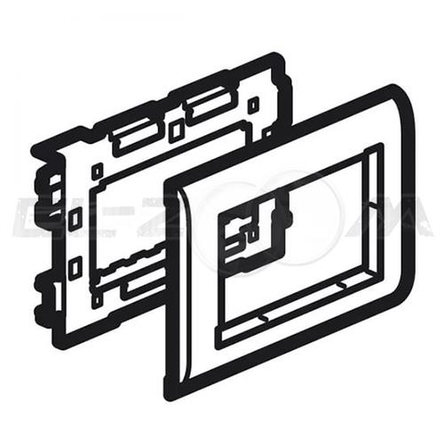 Суппорт 4 модуля Mosaic для кабель-канала 100x50 Legrand METRA