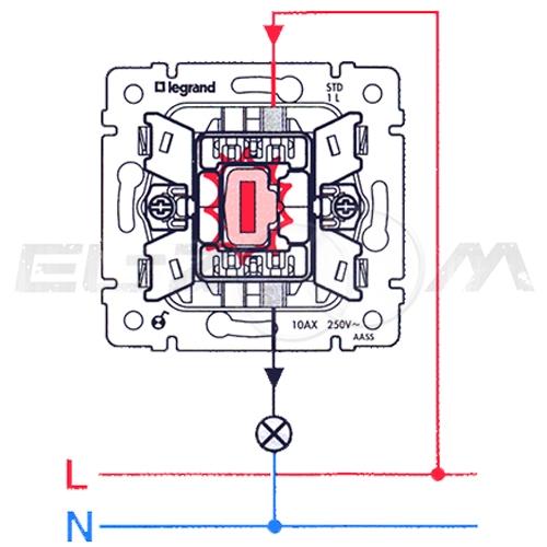 Выключатель 1-клавишный с подсветкой Legrand Valena алюм 10АX
