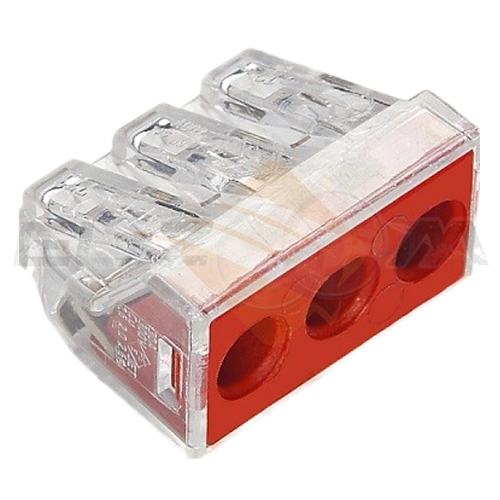 Клемма соединительная 3 контакта WAGO 773-173 2.5-6 кв.мм. 32А