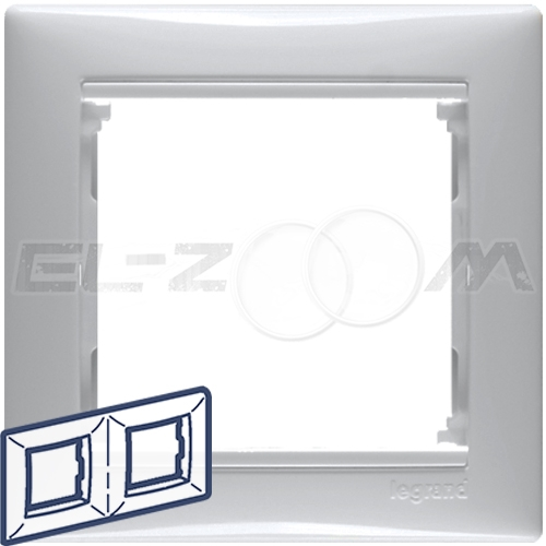 Рамка 2-я (постовая) Legrand Valena белый