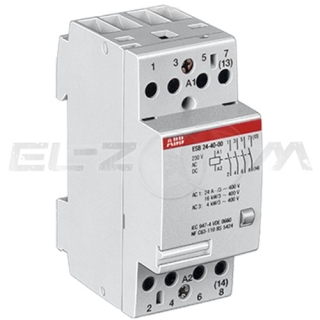 Контактор модульный ABB ESB24-40 24А (4 н.о.) катушка 220В AC