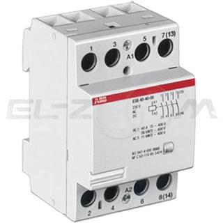 Контактор модульный ABB ESB63-40 63А (4 н.о.) катушка 220В AC