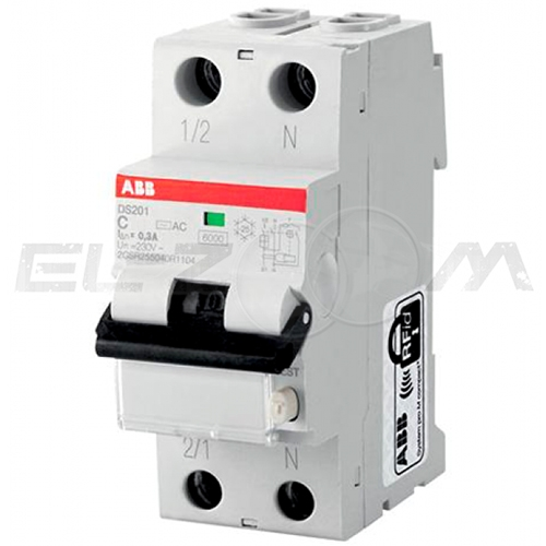 Дифференциальный автомат ABB DS201 2п C40 30мА AC