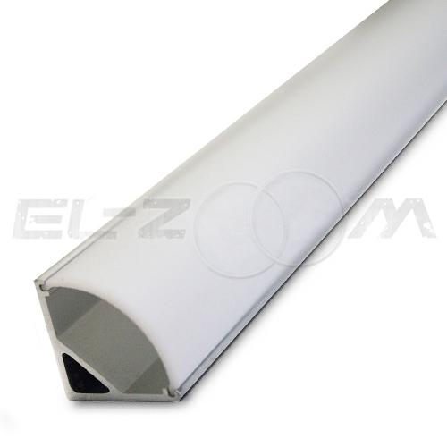 Угловой алюминиевый профиль для светодиодной ленты с рассеивателем