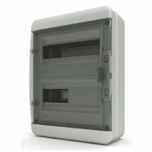 Бокс Tekfor серия B IP65 навесной 24М с прозрачной дверцей, серый