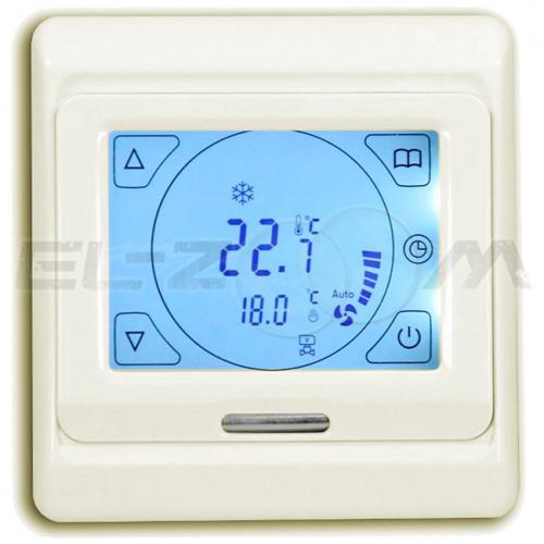 Терморегулятор электронный программируемый сенсорный для теплого пола E91.716 крем