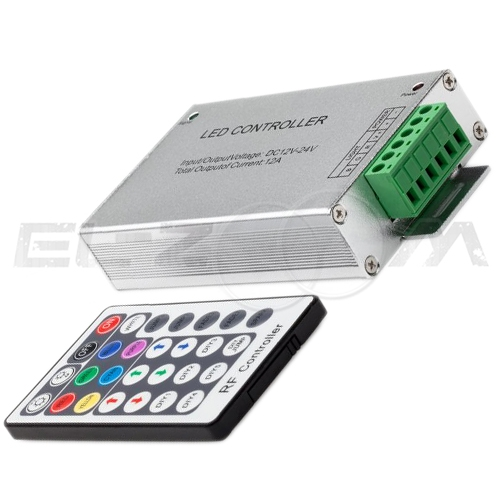 Контроллер кнопочный RGB 12/24В, 360Вт, IP20 для светодиодных лент