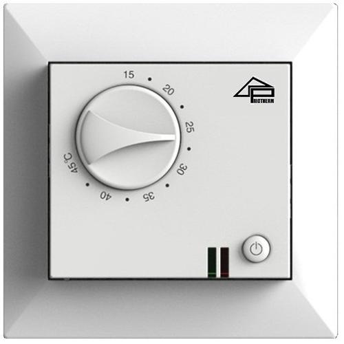 Терморегулятор механический для теплого пола Priotherm PR-109 белый