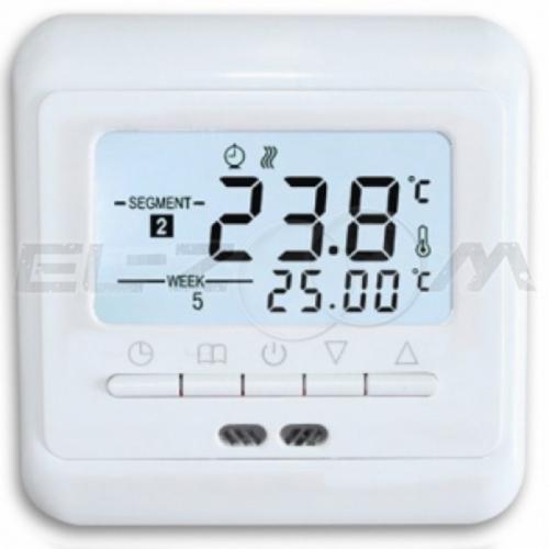 Терморегулятор электронный программируемый для теплого пола PST-3 белый