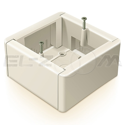 Подъемная рамка (коробка адаптерная) 88x88x44мм IP20 Greenel слоновая кость