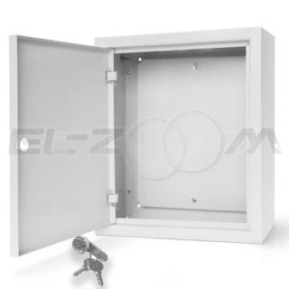 Щит с монтажной панелью ЩМП-03 металл. навесной, серый