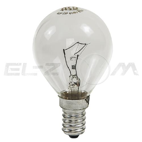 Лампа накаливания ШАР ASD P45 60Вт E14 прозрачная