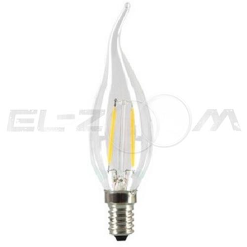 Лампа светодиодная нитевидная СВЕЧА на ветру Eleganz 5Вт 4000K E14 220В прозрачное стекло