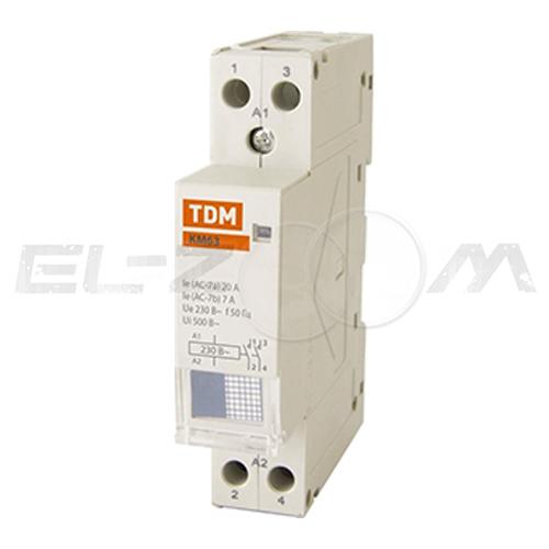 Контактор модульный TDM КМ63/2-25 25А (2 н.о.) катушка 220В AC