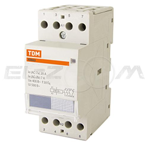 Контактор модульный TDM КМ63/2-63 63А (2 н.о.) катушка 220В AC