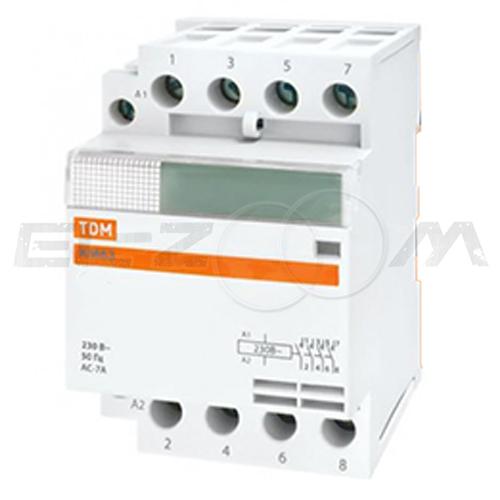 Контактор модульный TDM КМ63/4-32 32А (2 н.о.) катушка 220В AC