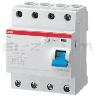 Устройство защитного отключения ABB F204 4п 25А 100мА AC