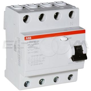 Устройство защитного отключения ABB FH204 4п 25А 300мА AC