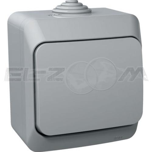 Выключатель 1-клавишный IP44 Schneider electric Этюд серый 10А