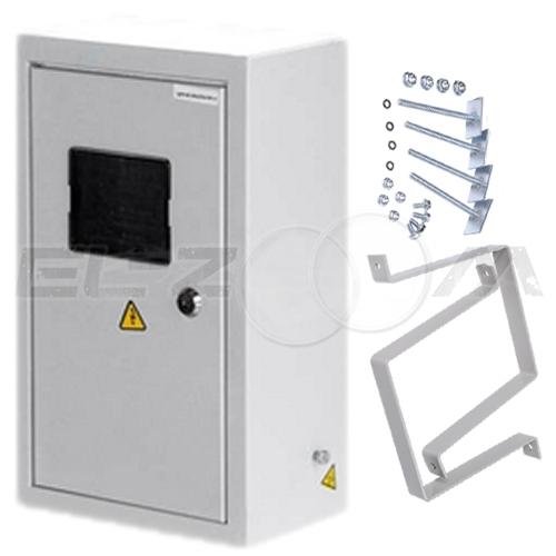 Щит с монтажной панелью IP-55 ЩРНМ-01 металл. серый (с креплением)