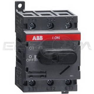 Рубильник врубной ABB OT40F3 3п 40А 1 направление
