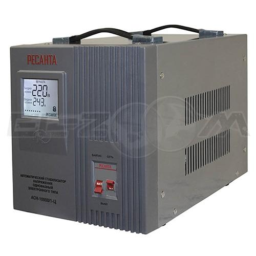 Стабилизатор напряжения однофазный 10000Вт электронного типа Ресанта ACH-10000/1-Ц
