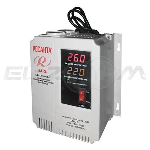Стабилизатор напряжения однофазный 2000Вт цифровой настенный Ресанта ACH-2000Н/1-Ц
