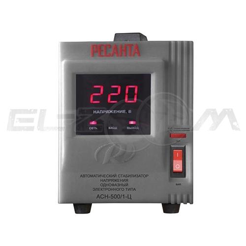 Стабилизатор напряжения однофазный 500Вт электронного типа Ресанта ACH-500/1-Ц