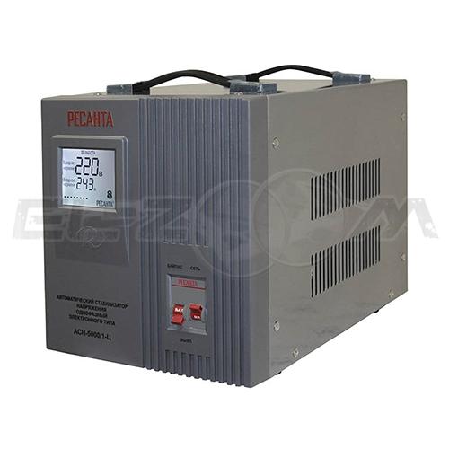 Стабилизатор напряжения однофазный 5000Вт электронного типа Ресанта ACH-5000/1-Ц