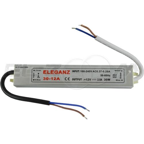 Блок питания (трансформатор) 220-12В, 30Вт, IP67 для светодиодных лент