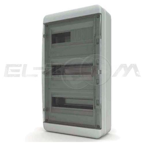 Бокс Tekfor серия B IP65 навесной 36М с прозрачной дверцей, серый