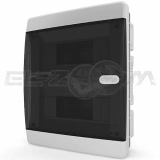 Бокс Tekfor серия C в нишу 18М с прозрачной дверцей, белый
