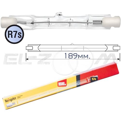 Лампа галогенная прожекторная Navigator NH-J 1000Вт R7s 189мм