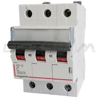 Автоматический выключатель Legrand DX3-E 3п C10 6кА