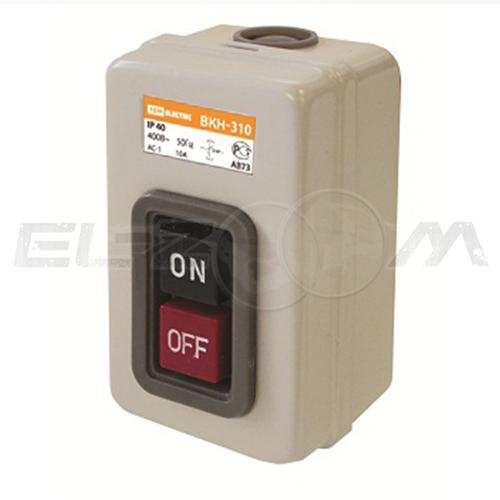 Выключатель кнопочный с блокировкой 16А ВКН-316 IP54 TDM