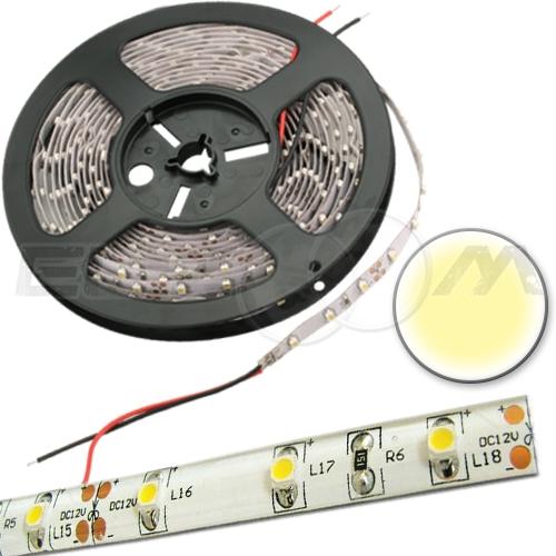 Светодиодная лента SMD 3528 IP65, 12В 4,8Вт/м L60 белый (теплый)